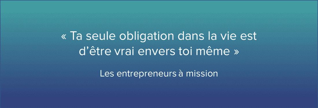 Les entrepreneurs à mission