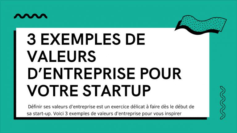 Valeurs startup